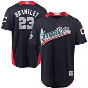 Wholesale Cheap Indians #23 Michael Brantley Navy Blue 2018 All-Star American League Stitched MLB Jersey