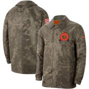 Wholesale Cheap Men's Chicago Bears Nike Camo 2019 Salute to Service Sideline Full-Zip Lightweight Jacket
