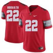 Wholesale Cheap Ohio State Buckeyes 22 Les Horvath Red 2018 Spring Game College Football Limited Jersey