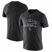 Wholesale Cheap Colorado Rockies Nike Away Practice T-Shirt Black