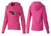 Wholesale Cheap Women's Arizona Cardinals Logo Pullover Hoodie Pink