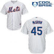 Wholesale Cheap Mets #45 Tug McGraw White(Blue Strip) Cool Base Stitched Youth MLB Jersey