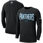 Wholesale Cheap Carolina Panthers Nike Sideline Property Of Performance Long Sleeve T-Shirt Black