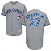Wholesale Cheap Blue Jays #27 Vladimir Guerrero Jr. Grey Flexbase Authentic Collection Stitched MLB Jersey