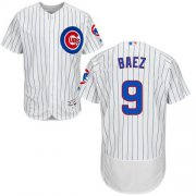 Wholesale Cheap Cubs #9 Javier Baez White(Blue Strip) Flexbase Authentic Collection Stitched MLB Jersey