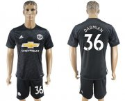 Wholesale Cheap Manchester United #36 Darmian Away Soccer Club Jersey