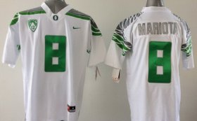 Wholesale Cheap Oregon Duck #8 Marcus Mariota 2014 White Limited Jersey