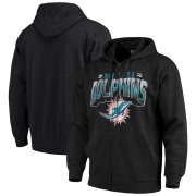 Wholesale Cheap Miami Dolphins G-III Sports by Carl Banks Perfect Season Full-Zip Hoodie Charcoal