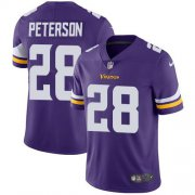 Wholesale Cheap Nike Vikings #28 Adrian Peterson Purple Team Color Youth Stitched NFL Vapor Untouchable Limited Jersey