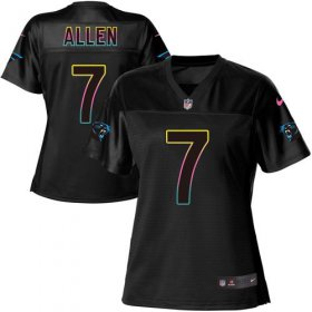 Wholesale Cheap Nike Panthers #7 Kyle Allen Black Women\'s NFL Fashion Game Jersey