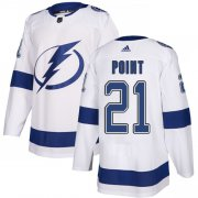 Wholesale Cheap Adidas Lightning #21 Brayden Point White Road Authentic Stitched Youth NHL Jersey
