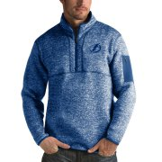 Wholesale Cheap Tampa Bay Lightning Antigua Fortune Quarter-Zip Pullover Jacket Blue