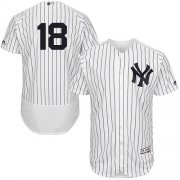 Wholesale Cheap Yankees #18 Don Larsen White Strip Flexbase Authentic Collection Stitched MLB Jersey