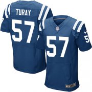 Wholesale Cheap Nike Colts #57 Kemoko Turay Royal Blue Team Color Men's Stitched NFL Elite Jersey