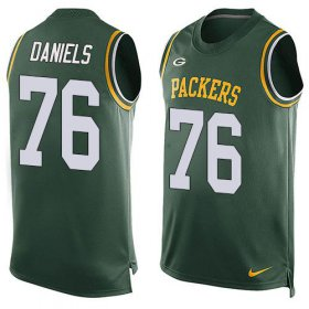 Wholesale Cheap Nike Packers #76 Mike Daniels Green Team Color Men\'s Stitched NFL Limited Tank Top Jersey