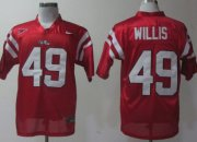 Wholesale Cheap Ole Miss Rebels #49 Patrick Willis Red Jersey