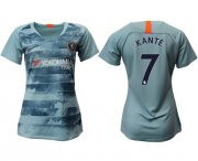 Wholesale Cheap Women's Chelsea #7 Kante Third Soccer Club Jersey
