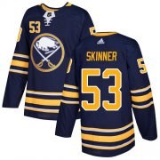 Wholesale Cheap Adidas Sabres #53 Jeff Skinner Navy Blue Home Authentic Youth Stitched NHL Jersey