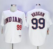 Wholesale Cheap Indians #99 Ricky Vaughn White 1978 Turn Back The Clock Stitched MLB Jersey