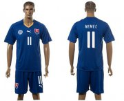 Wholesale Cheap Slovakia #11 Nemec Blue Away Soccer Country Jersey