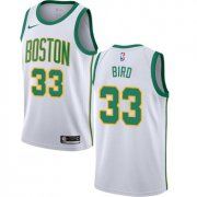 Wholesale Cheap Celtics #33 Larry Bird White Basketball Swingman City Edition 2018-19 Jersey