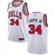 Wholesale Cheap Nike Chicago Bulls #34 Wendell Carter Jr. White NBA Swingman Association Edition Jersey