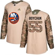 Wholesale Cheap Adidas Islanders #55 Johnny Boychuk Camo Authentic 2017 Veterans Day Stitched Youth NHL Jersey