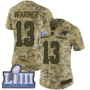 Wholesale Cheap Nike Rams #13 Kurt Warner Camo Super Bowl LIII Bound Women's Stitched NFL Limited 2018 Salute to Service Jersey
