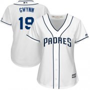 Wholesale Cheap Padres #19 Tony Gwynn White Home Women's Stitched MLB Jersey