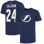 Wholesale Cheap Tampa Bay Lightning #24 Ryan Callahan Reebok Name and Number Player T-Shirt Blue