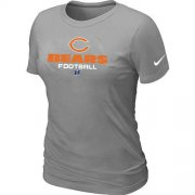 Wholesale Cheap Women's Nike Chicago Bears Critical Victory NFL T-Shirt Light Grey