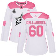 Cheap Adidas Stars #60 Ty Dellandrea White/Pink Authentic Fashion Women's 2020 Stanley Cup Final Stitched NHL Jersey