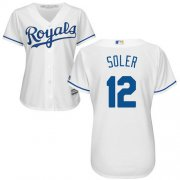 Wholesale Cheap Royals #12 Jorge Soler White Home Women's Stitched MLB Jersey