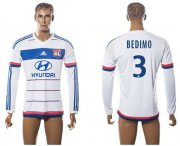 Wholesale Cheap Lyon #3 Bedimo Home Long Sleeves Soccer Club Jersey