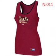 Wholesale Cheap Women's Nike Arizona Diamondbacks Tri-Blend Racerback Stretch Tank Top Red