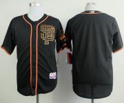 Wholesale Cheap Giants Blank Black Alternate Cool Base Stitched MLB Jersey