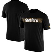 Wholesale Cheap Pittsburgh Steelers Nike Sideline Seismic Legend Performance T-Shirt Black