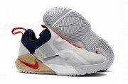 Wholesale Cheap Nike Lebron James Ambassador 11 Shoes Grey Blue Red
