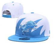 Wholesale Cheap Lions Team Logo Blue White Adjustable Hat