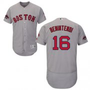 Wholesale Cheap Red Sox #16 Andrew Benintendi Grey Flexbase Authentic Collection 2018 World Series Stitched MLB Jersey