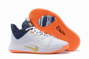 Wholesale Cheap Nike PG 3 Drak Blue White Gold