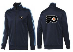 Wholesale Cheap NHL Philadelphia Flyers Zip Jackets Dark Blue