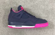 Wholesale Cheap Air Jordan 4 GS Denim Shoes Dark blue/pink-black