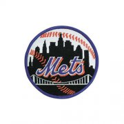 Wholesale Cheap Stitched New York Mets Road Sleeve Patch (Blue Border)