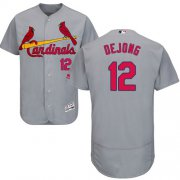 Wholesale Cheap Cardinals #12 Paul DeJong Grey Flexbase Authentic Collection Stitched MLB Jersey