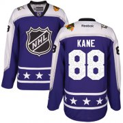 Wholesale Cheap Blackhawks #88 Patrick Kane Purple 2017 All-Star Central Division Women's Stitched NHL Jersey