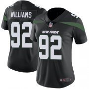 Wholesale Cheap Nike Jets #92 Leonard Williams Black Alternate Women's Stitched NFL Vapor Untouchable Limited Jersey