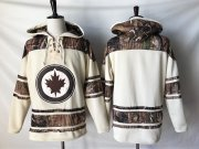 Wholesale Cheap Jets Blank Cream Camo NHL Hoodie