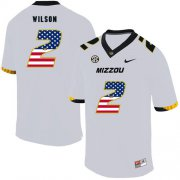 Wholesale Cheap Missouri Tigers 2 Micah Wilson White USA Flag Nike College Football Jersey