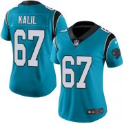 Wholesale Cheap Nike Panthers #67 Ryan Kalil Blue Women's Stitched NFL Limited Rush Jersey